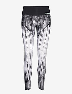 Mid Panel Comp Tights-W - DIGITAL WATERFALL/MINT