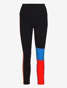 FORM BLOCK HI-RISE COMPRESSIO - sportleggings - black/high risk red