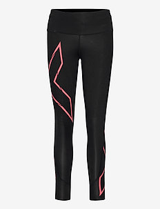 LIGHT SPEED MID-RISE COMPRESS - sportleggings - black/cranberry reflective