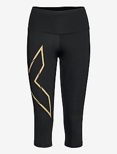 LIGHT SPEED MID-RISE COMPRESS - sportleggings - black/gold reflective