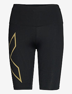 LIGHT SPEED MID-RISE COMPRESS - training korte broek - black/gold reflective