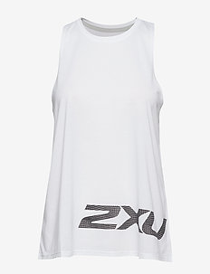 URBAN Graphic Singlet-W - WHITE/BLACK