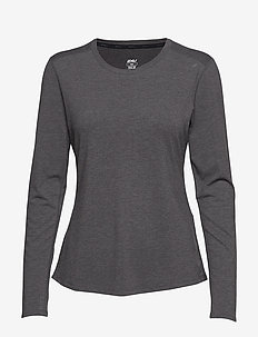 HEAT L/S Top - CHARCOAL MARLE/CHARCOAL MARLE