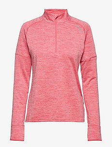 PURSUIT Thermal1/4 Zip L/S Top-W - sweatshirts - pink lift/silver reflective