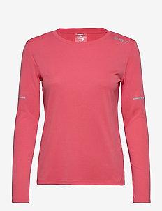 XVENT G2 L/S Top-W - långärmade tröjor - pink lift/silver reflective