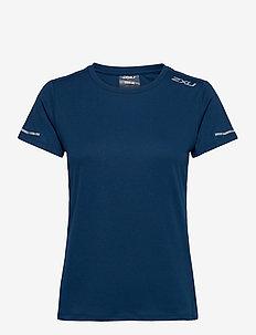 XVENT G2 S/S Tee-W - t-shirts - poseidon/silver reflective