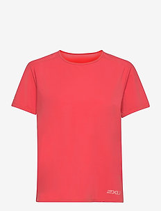 MOTION MESH TEE - t-shirts - cranberry/rosette