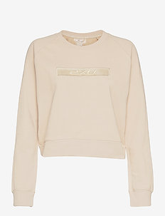 FORM CROP CREW - sweatshirts - oatmeal/oatmeal