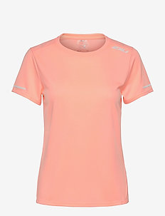 AERO TEE - t-shirts - pop coral/white reflective