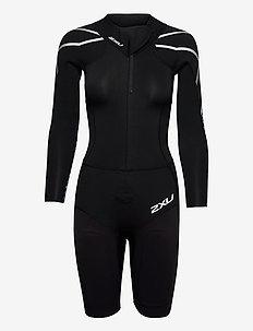 SWIMRUN: 1 WETSUIT - sport zwemkleding - black/aquarius teal print