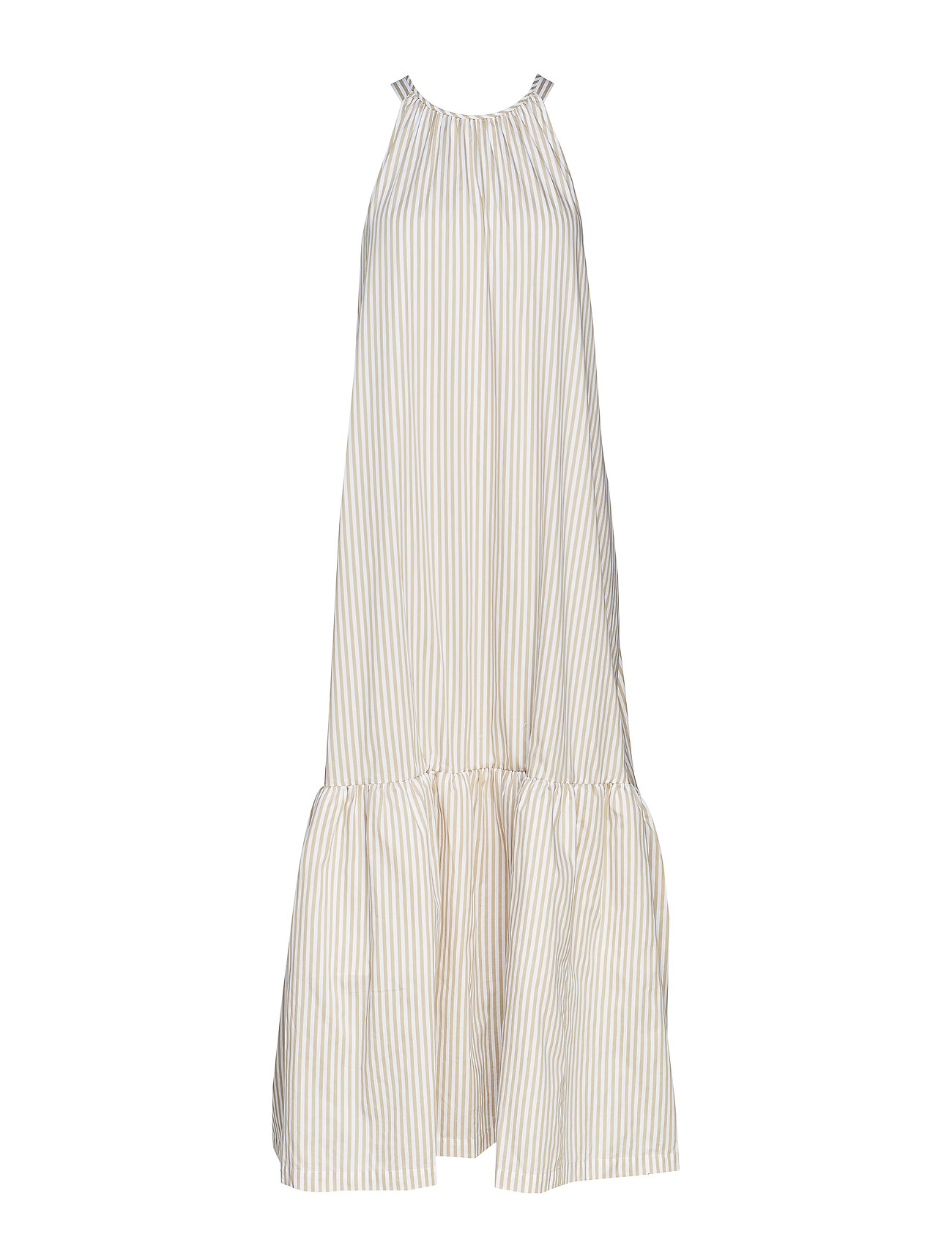 3.1 Phillip Lim LONG STRIPED TENT DRESS - KHAKI-WHITE