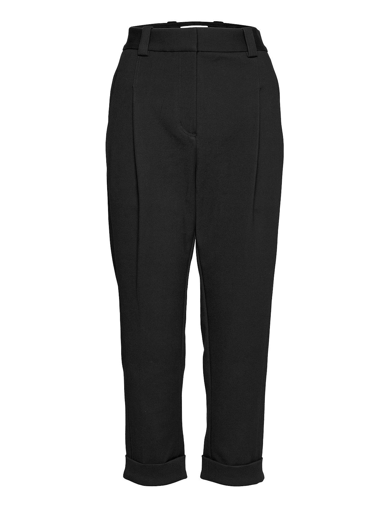 P212-5077elv / Pleat Front Tapered Cuffed Tailored Trouser Bukser Med Lige Ben Sort 3.1 Phillip Lim