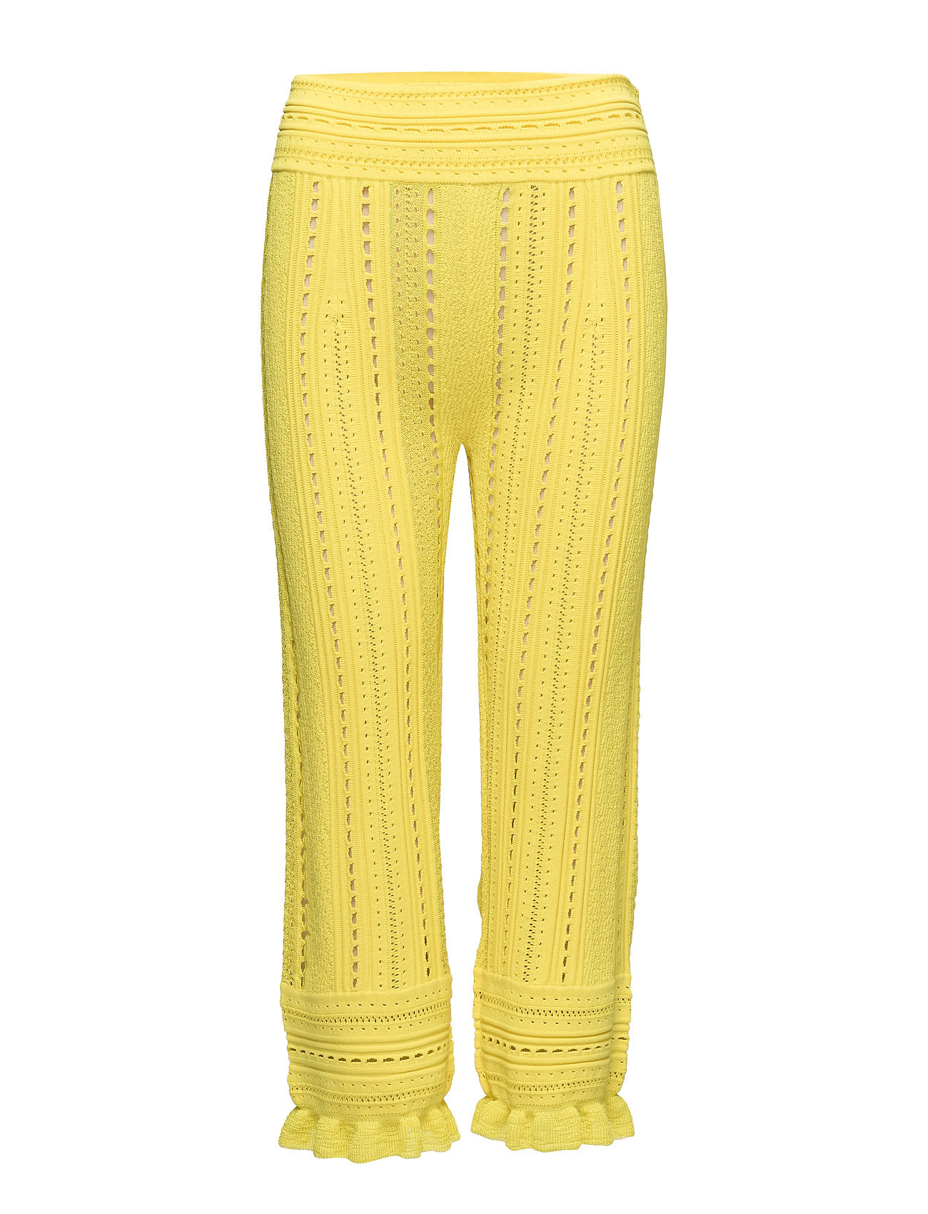 Image of Compact Pointelle Lace Pants Vide Bukser Gul 3.1 PHILLIP LIM (3114230793)