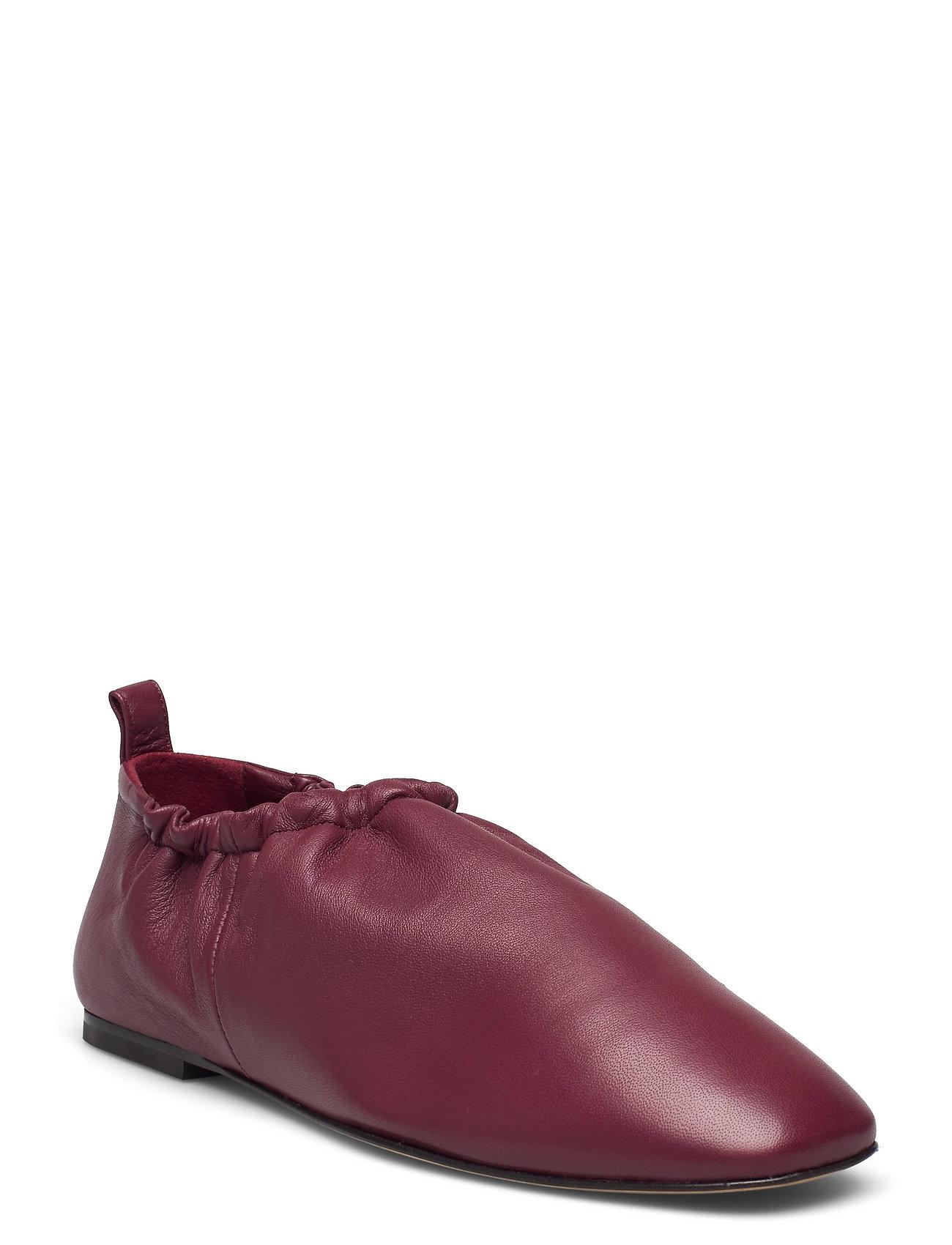 Ssp1-T760nsl / Rouched Slipper Loafers Flade Sko Rød 3.1 Phillip Lim