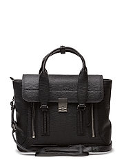 PASHLI MEDIUM SATCHEL - BLK-NICKEL