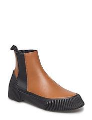 Lela - Vulcanized Chelsea boot - COGNAC
