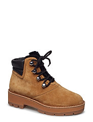 DYLAN - SHEARLING LACE UP HIKING BOOT - OAK