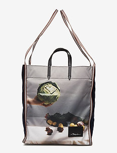 HENRY DOUBLE STRAP MARKET TOTE - casual shoppers - navy multi
