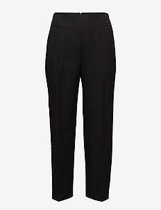 TAILORED PANT W GROSGRAIN TRIM - bukser med lige ben - black
