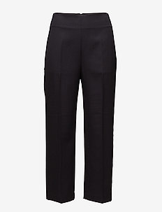 TAILORED PANT W GROSGRAIN TRIM - MIDNIGHT