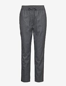 TRACK PANT W SIDE STRIPE - bukser med lige ben - medium melange grey