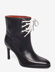 AGATHA - 85MM LACE UP BOOTIE - BLACK