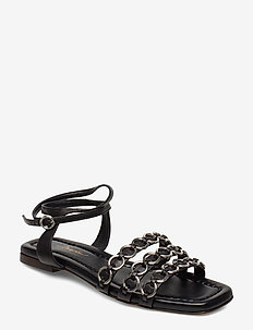 ALYSE - SLIPPER SANDAL W RINGS - BLACK