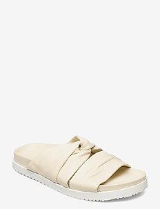 TWISTED LTHR POOL SLIDE - kengät - vanilla