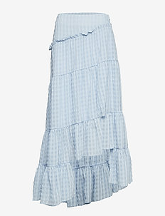 FULL TIERED SKIRT - OXFORD BLUE