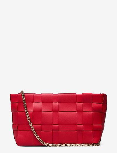 ODITA LATTICE POUCH - crossbody bags - mars red