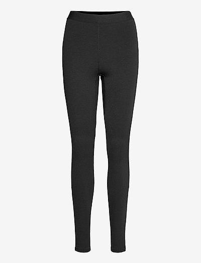 NOVELTY JERSEY LEGGINGS - leggings - black