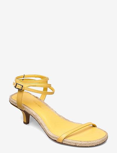 YASMINE- 50MM ESPADRILLE HEEL - høyhælte sandaler - sunshine