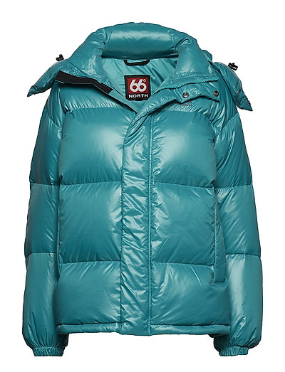 Dyngja Down Jacket - TEAL GREEN