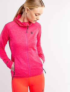 Peach W Sweat - mid layer jackets - magenta
