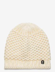 Fishbone Beanie - hats - blanc