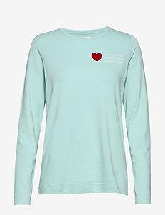 Violet W Top - långärmade tröjor - mint