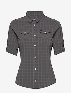 Swanson W Shirt - short-sleeved shirts - charcoal