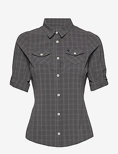 Swanson W Shirt - kortermede skjorter - charcoal