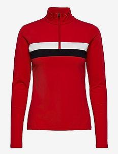 Lexie W Sweat - sweatshirts - red