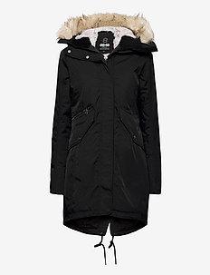 Jinny W Parka - insulated jackets - black