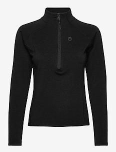 Inga W 1/2 Zip - sweatshirts - black