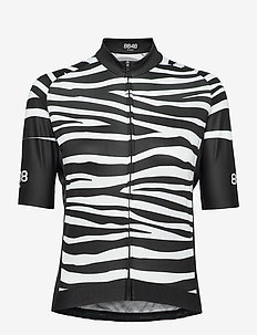 Ella W Bike Jersey - t-shirts - zebra black