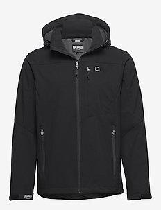 Padore Softshell Jac - softshell jackets - black