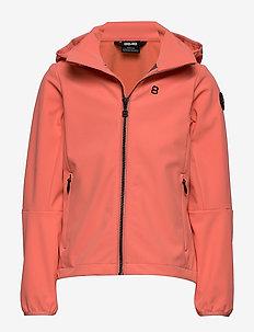 Aasa JR Softshell - softshell jacket - coral