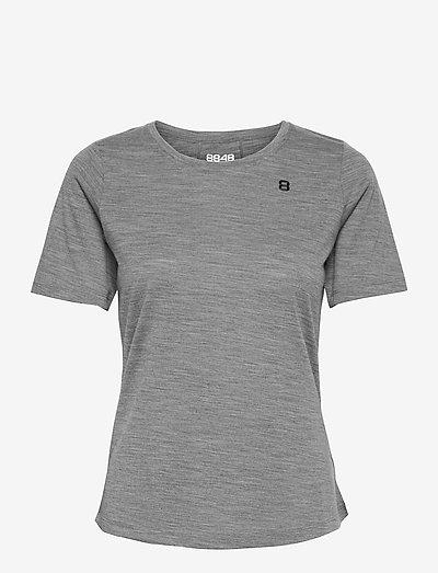 Twig W Tee - t-shirts - lt grey melange