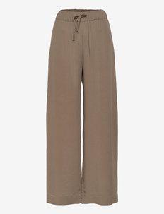 VACANT PANTS - laia säärega püksid - nougat