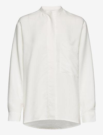 AIRY SHIRT SOFT MODAL WHITE - jeansblouses - white