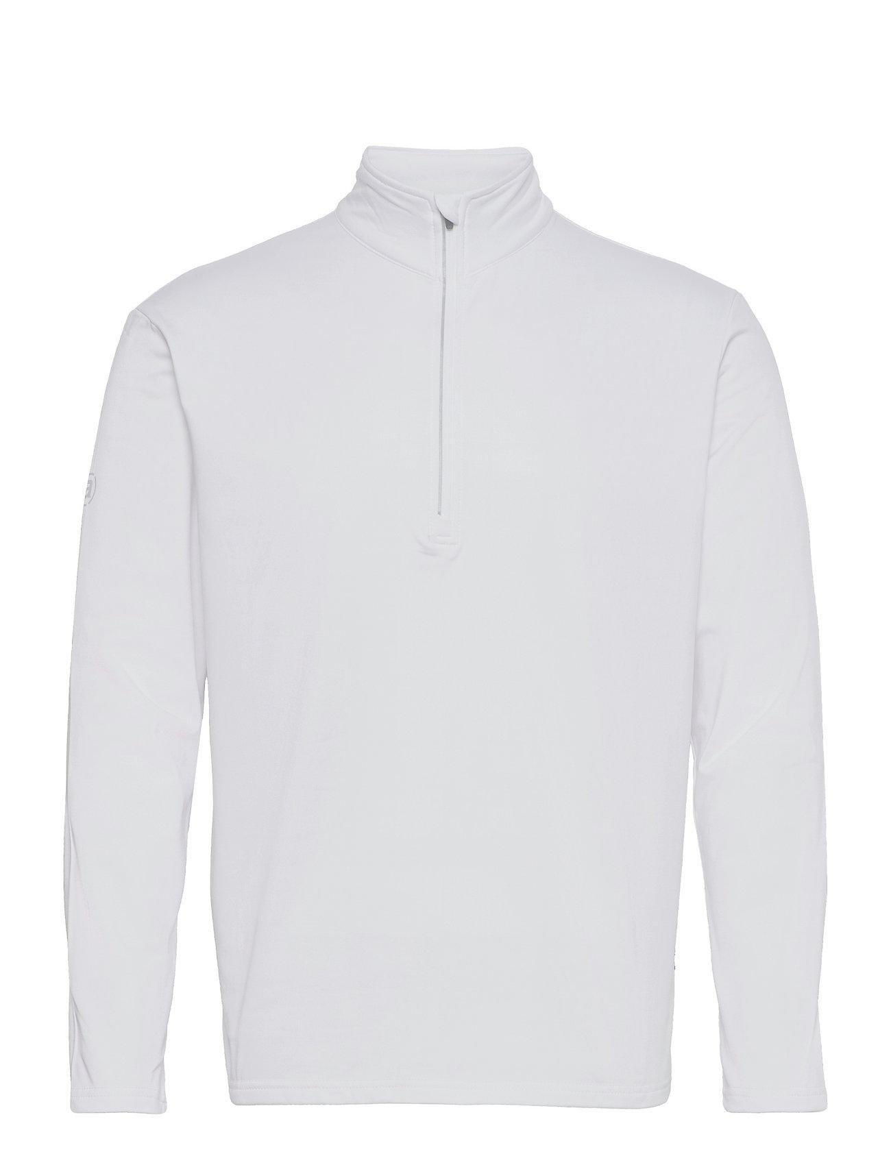 Abacus - Mens Dunbar halfzip fleece - hauts à manches longues - white - 0
