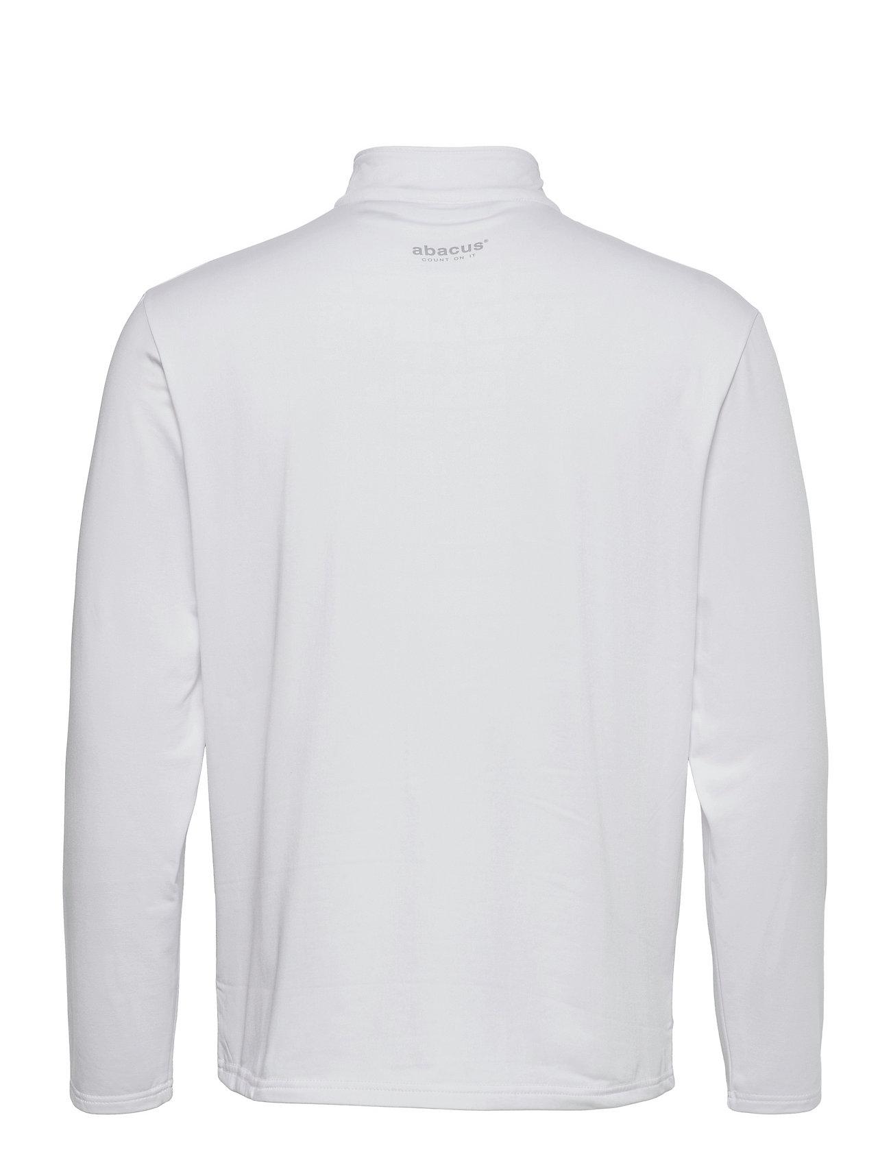 Abacus - Mens Dunbar halfzip fleece - hauts à manches longues - white - 1