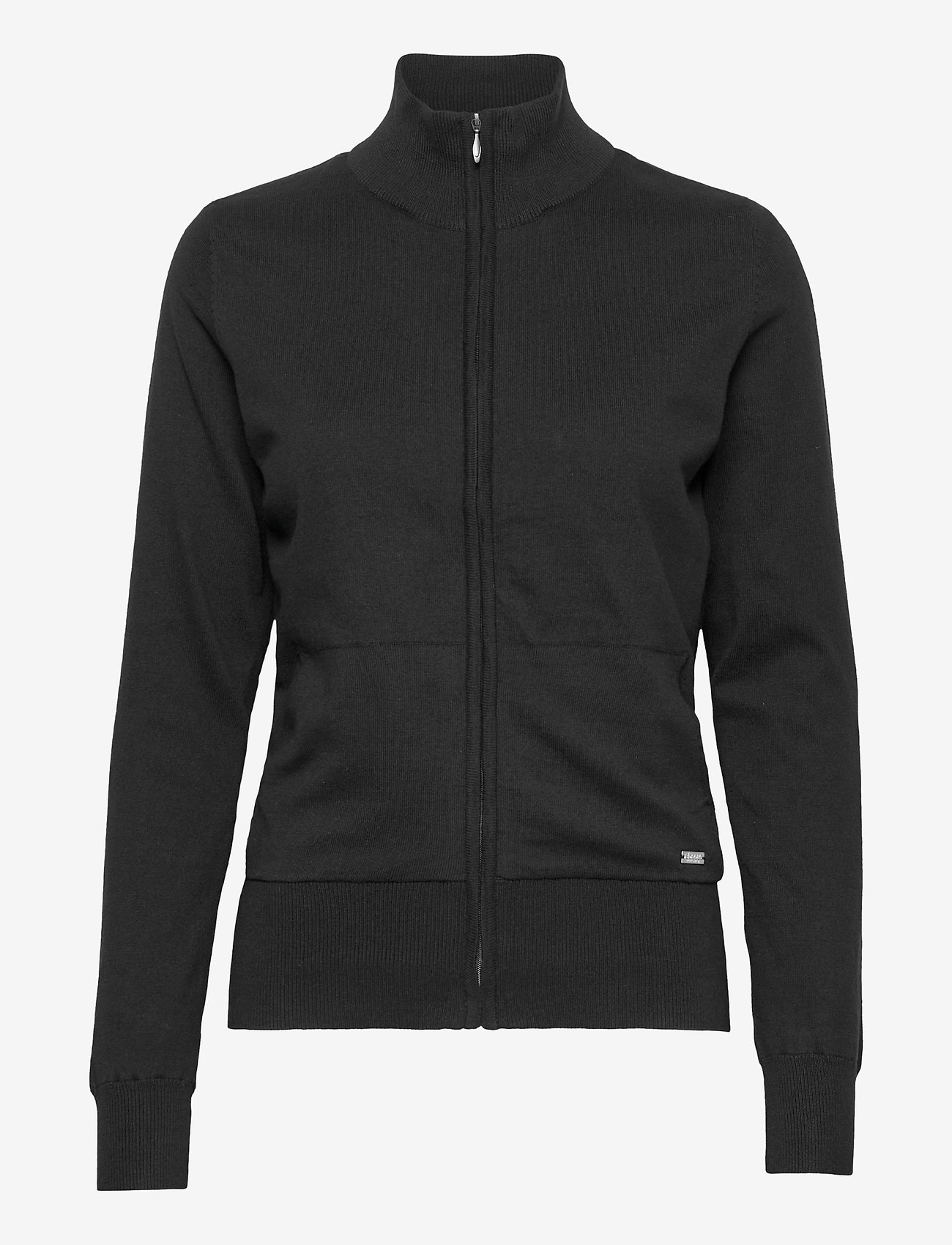 Abacus - Lds Dubson windstop cardigan - cardigans - black - 0